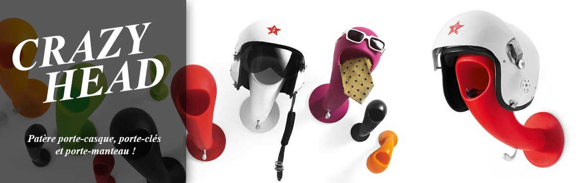 Porte-casque Crazy Head