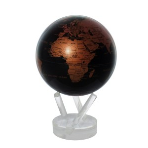 "Globe animé ""Copper Black"""